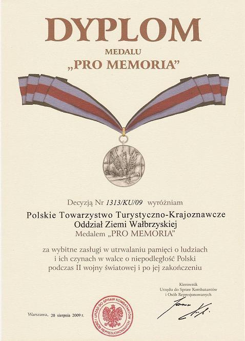 "Dyplom ""Pro Memoria"""