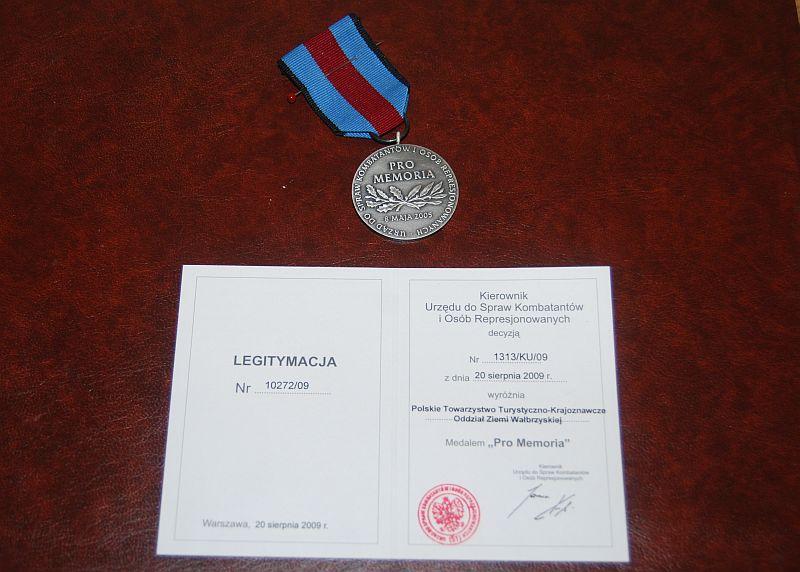 "Medal ""Pro Memoria"""