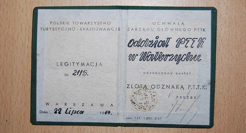 Złota Odznaka PTTK